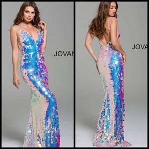 JVN JOVANI 59838 Pink long formal